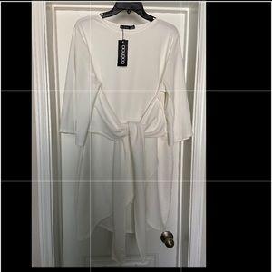 Kimono Sleeve Tie Waist Wrap Dress
